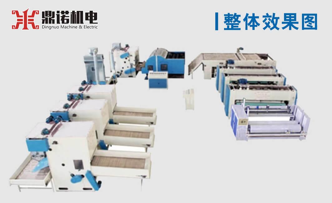 针刺棉生产线效果图