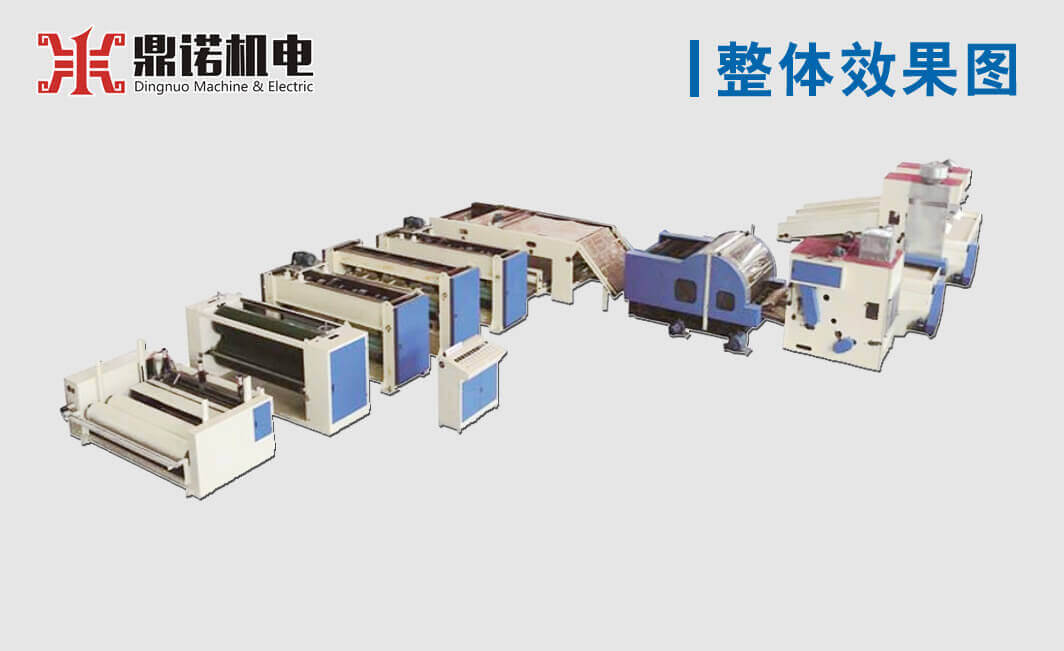 针刺合成皮革基布生产线效果图