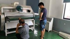 山西临汾老板考察鼎诺机电绗缝机