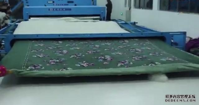 棉被生产线装套工艺