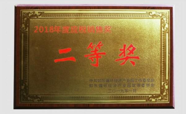2018年度应税销售奖