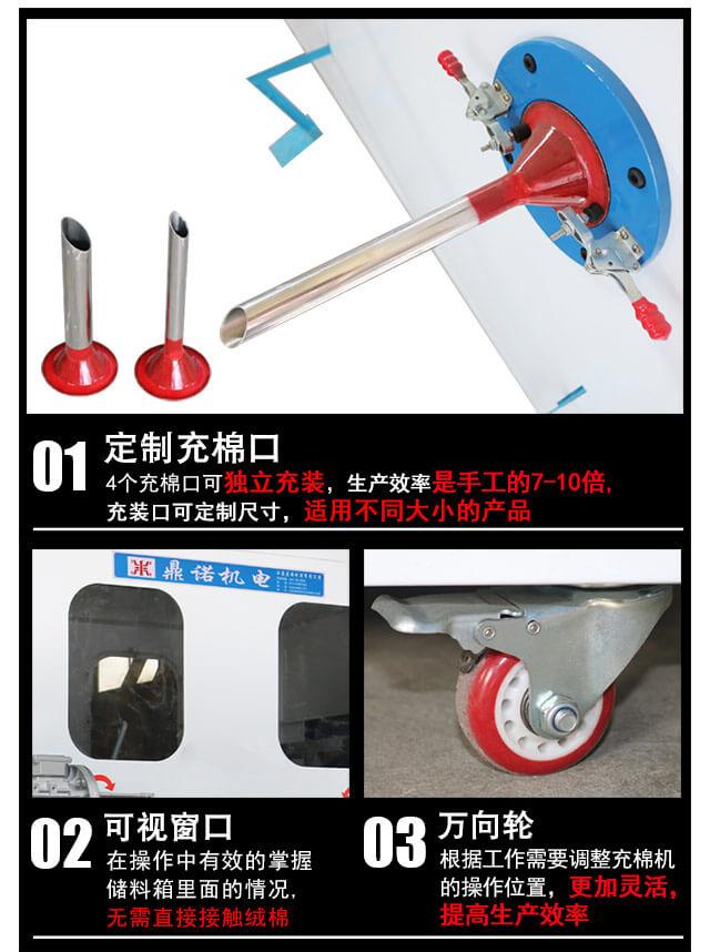 DN-CM-4四头充棉机产品说明细节3