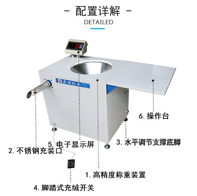 DN-半自动充绒充棉机产品细节2