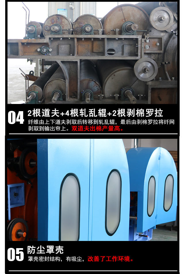 DN-1230单/双锡林双道夫梳理机产品细节3